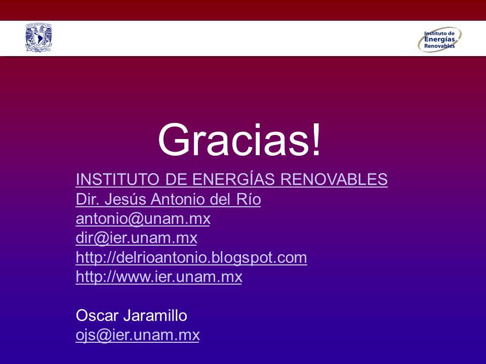 Gracias! INSTITUTO DE ENERGÍAS RENOVABLES Dir. Jesús Antonio del Río