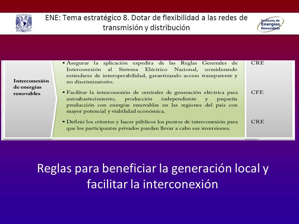 ENE: Tema estratégico 8. Dotar de flexibilidad a las redes de transmisión y distribución