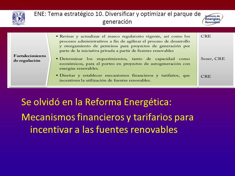 Se olvidó en la Reforma Energética: