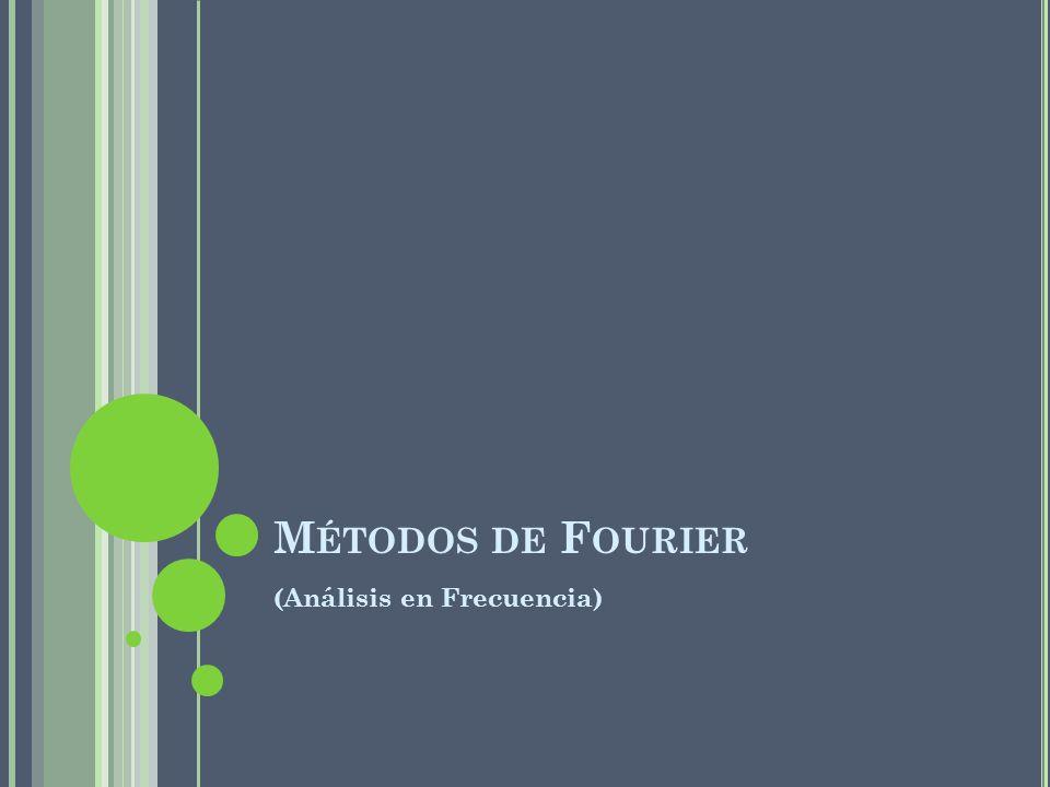 Métodos de Fourier (Análisis en Frecuencia)