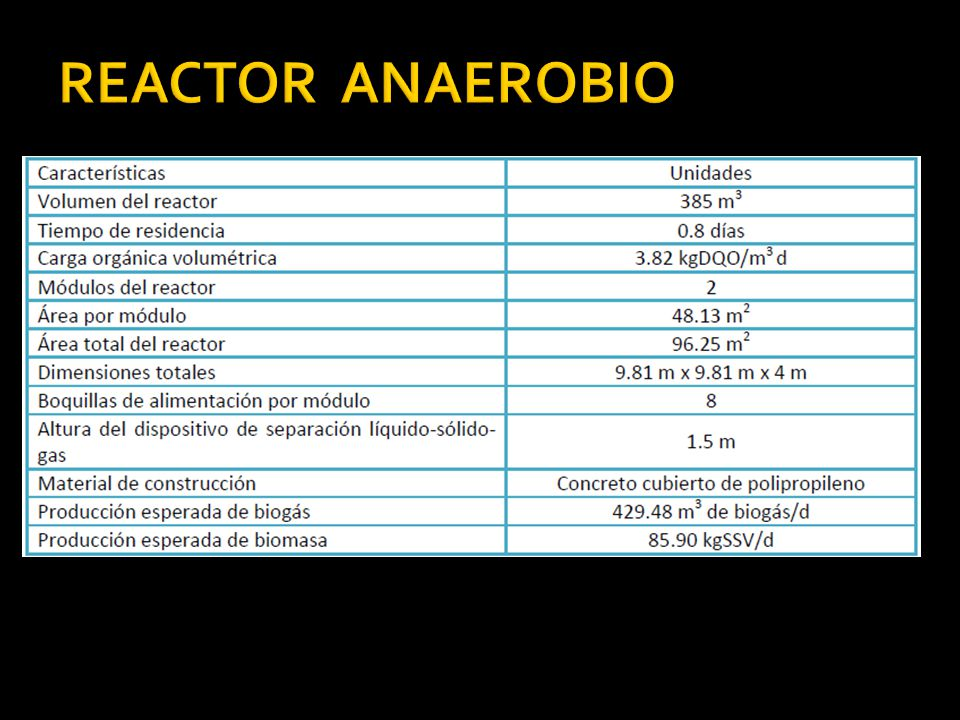 REACTOR ANAEROBIO