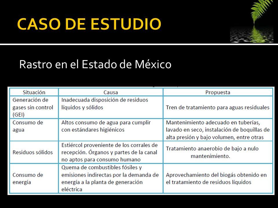 CASO DE ESTUDIO Rastro en el Estado de México