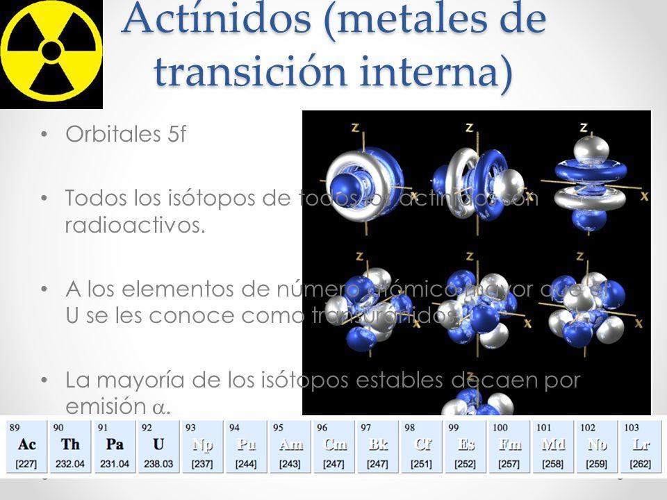 Actínidos (metales de transición interna)
