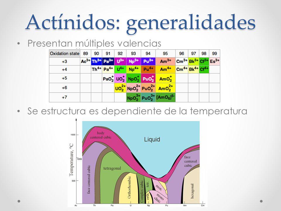 Actínidos: generalidades