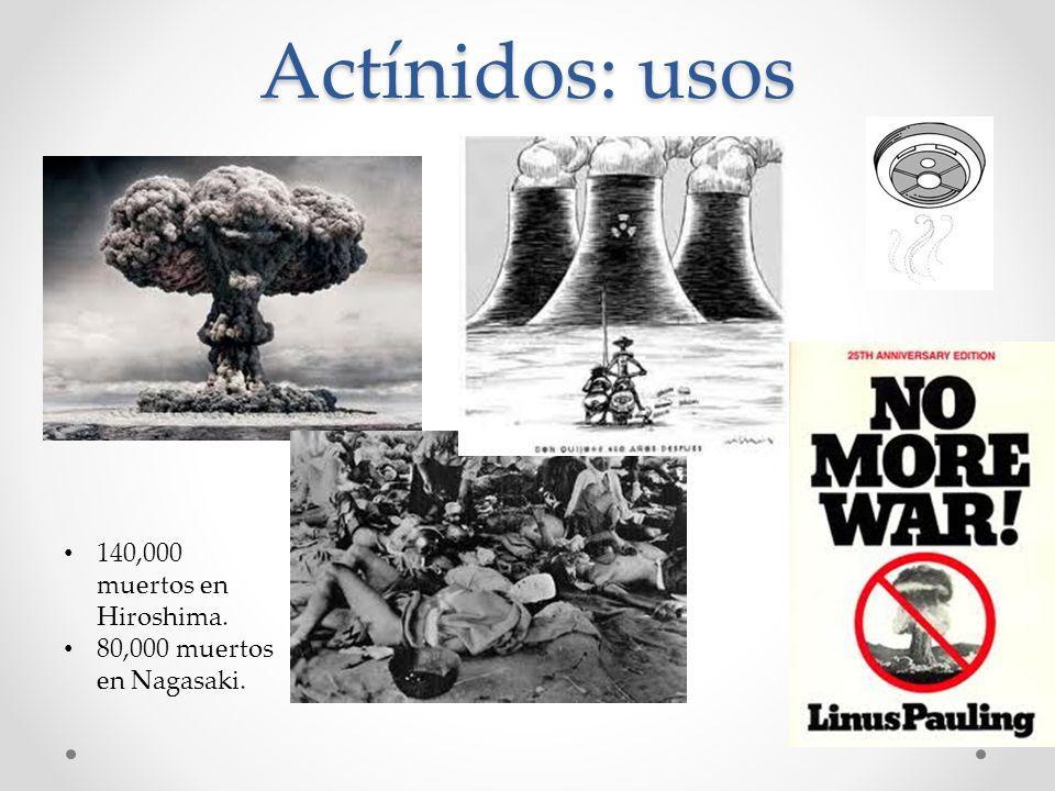 Actínidos: usos 140,000 muertos en Hiroshima.
