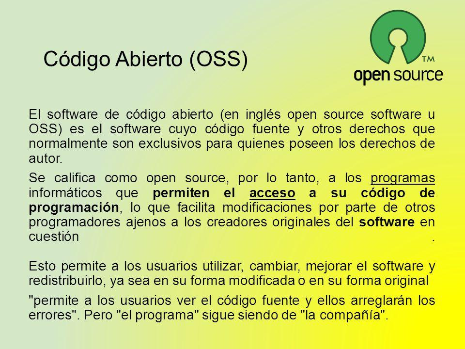 Código Abierto (OSS)