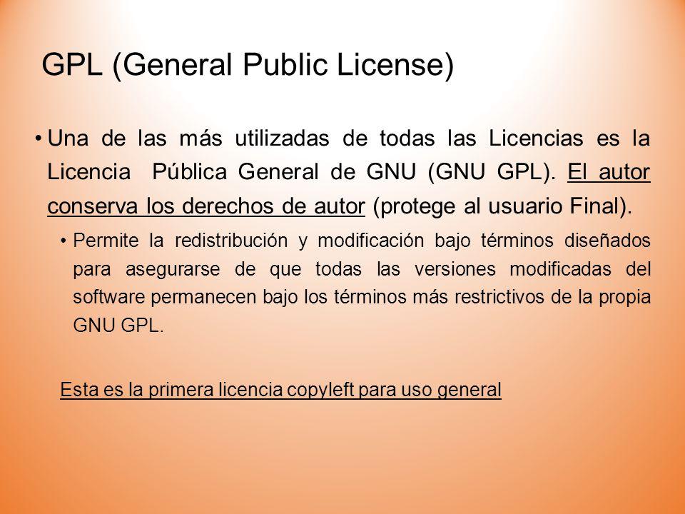 GPL (General Public License)