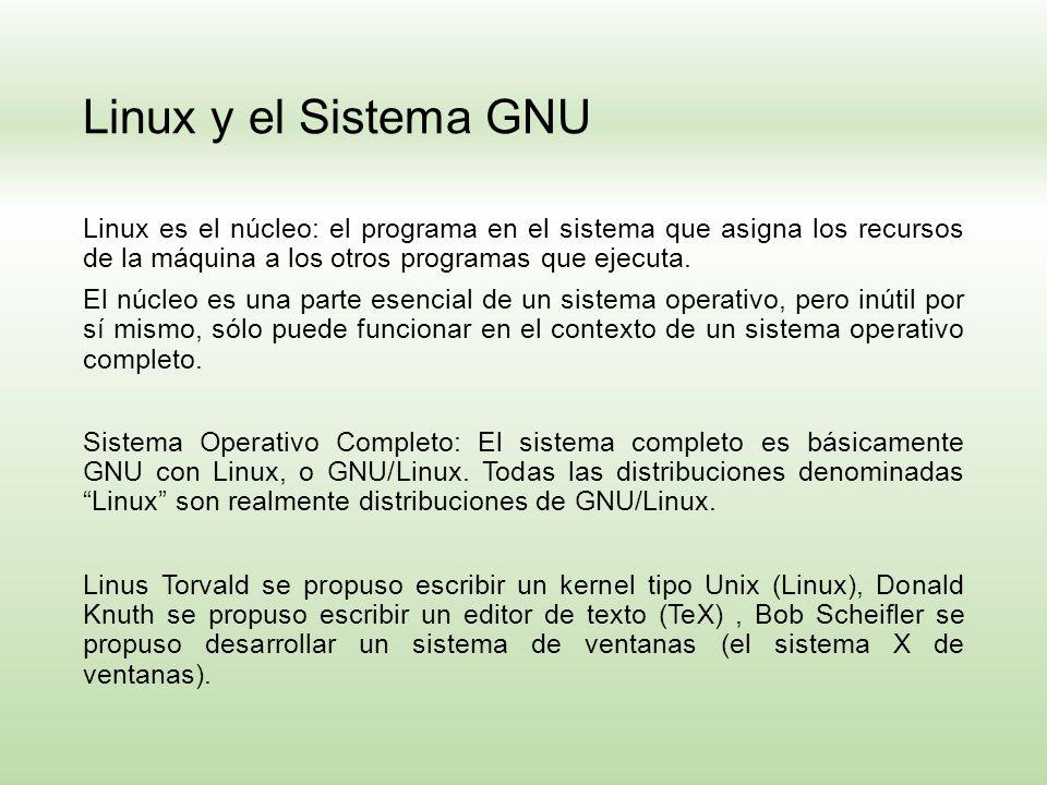 Linux y el Sistema GNU