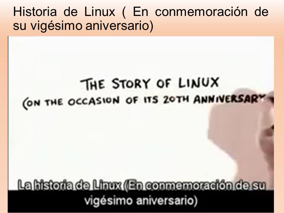 Historia de Linux ( En conmemoración de su vigésimo aniversario)