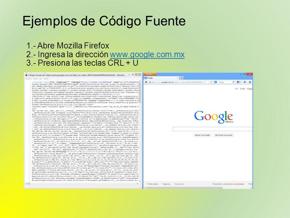 Ejemplos de Código Fuente