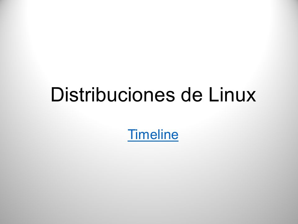 Distribuciones de Linux Timeline
