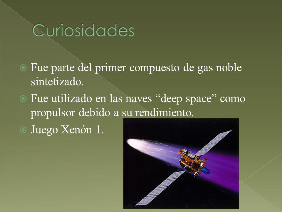 Curiosidades Fue parte del primer compuesto de gas noble sintetizado.