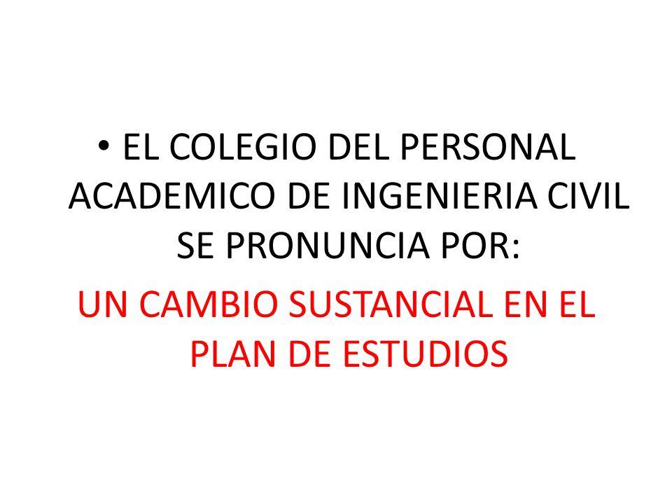 UN CAMBIO SUSTANCIAL EN EL PLAN DE ESTUDIOS