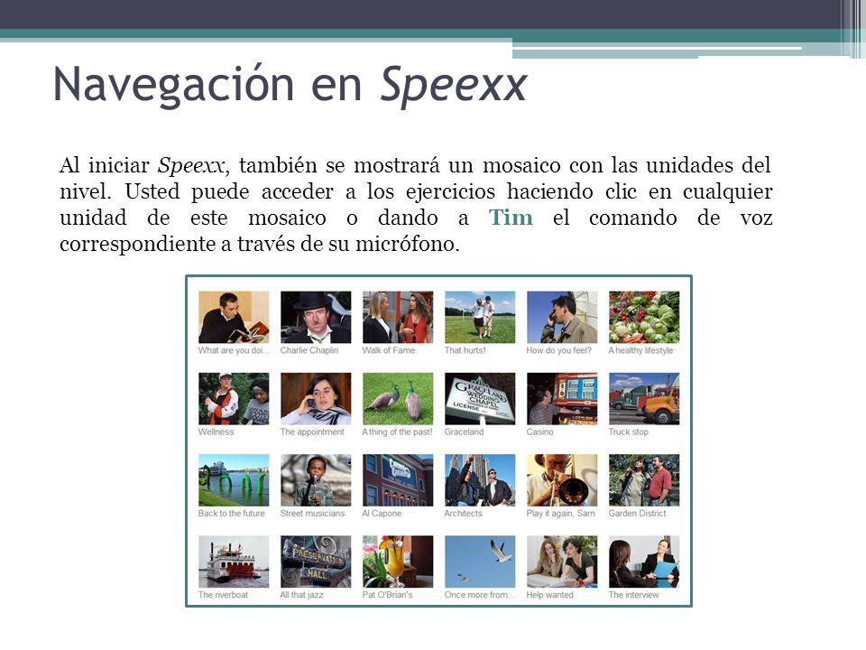 Navegación en Speexx