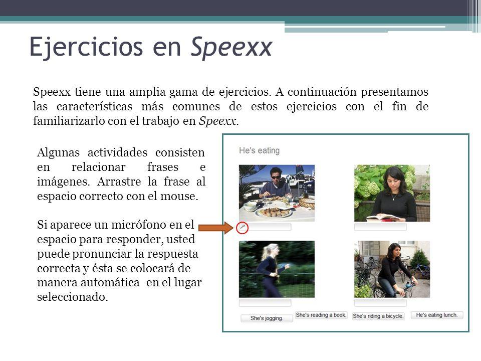 Ejercicios en Speexx