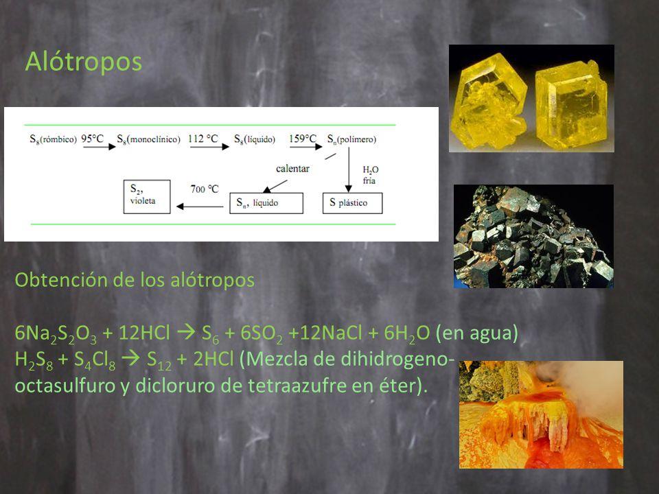 Alótropos Obtención de los alótropos