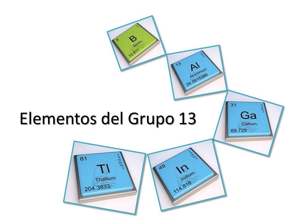 Elementos del Grupo 13