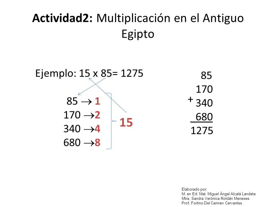 Actividad2: Multiplicación en el Antiguo Egipto