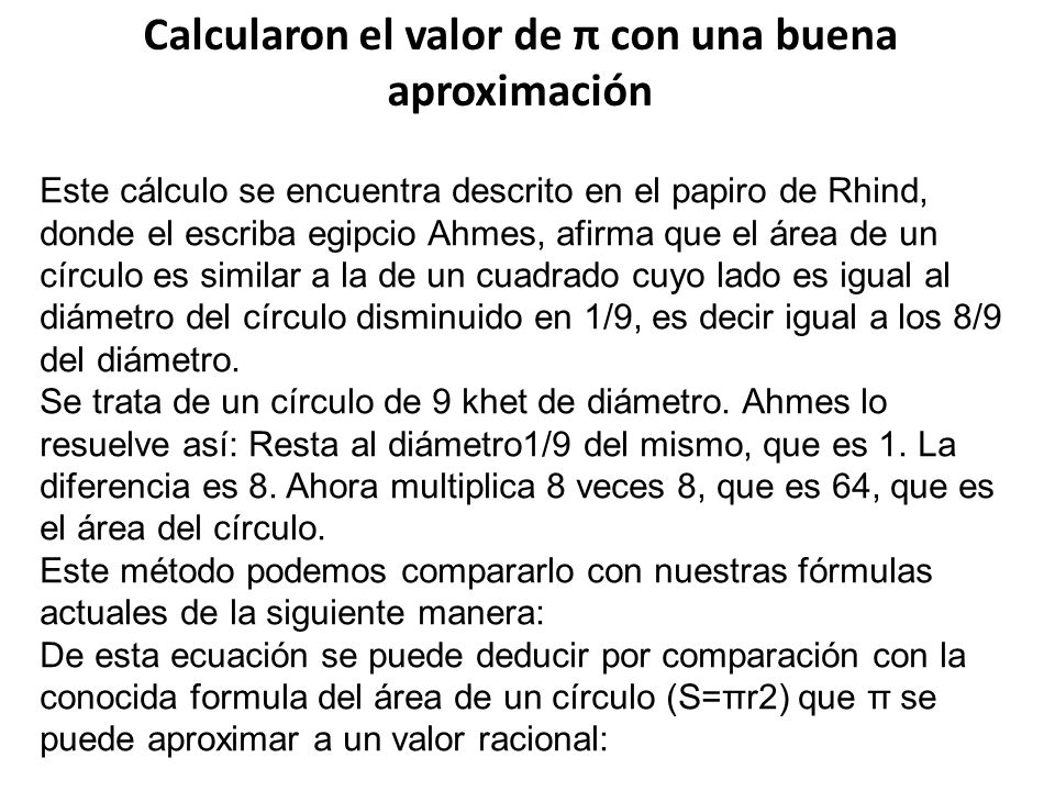 Calcularon el valor de π con una buena aproximación