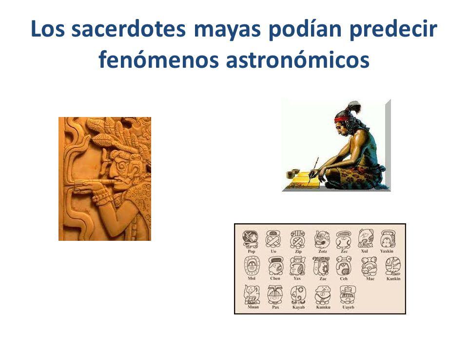 Los sacerdotes mayas podían predecir fenómenos astronómicos