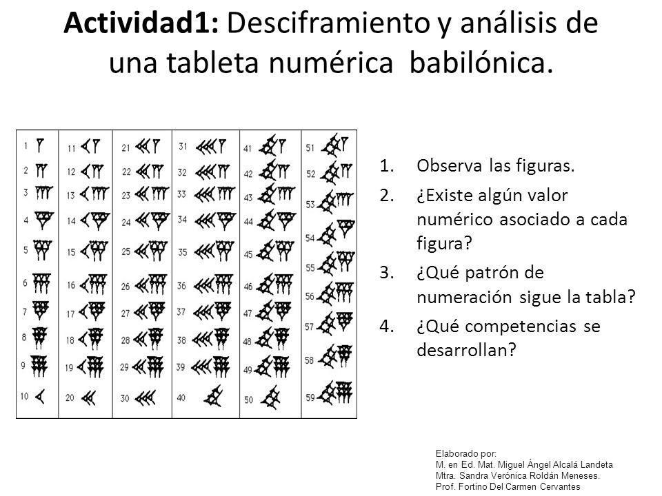 Actividad1: Desciframiento y análisis de una tableta numérica babilónica.