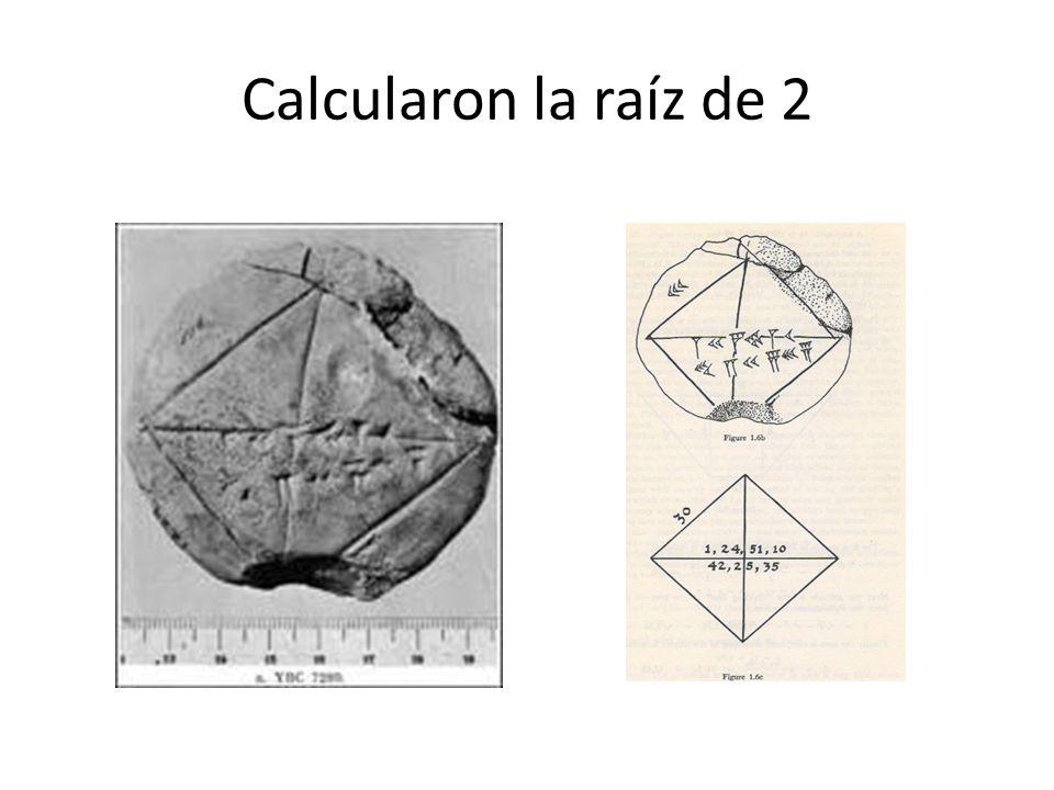 Calcularon la raíz de 2