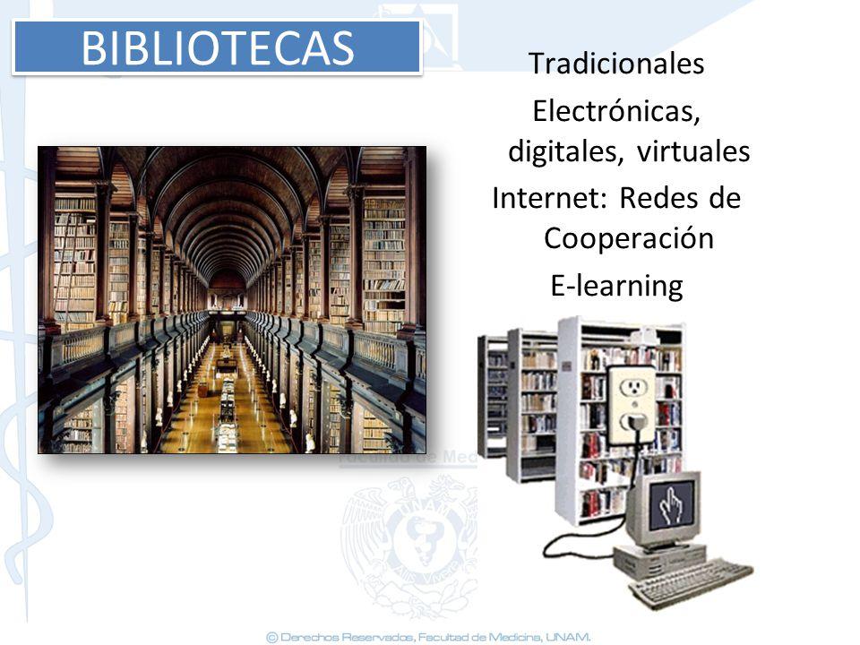 BIBLIOTECAS Tradicionales Electrónicas, digitales, virtuales