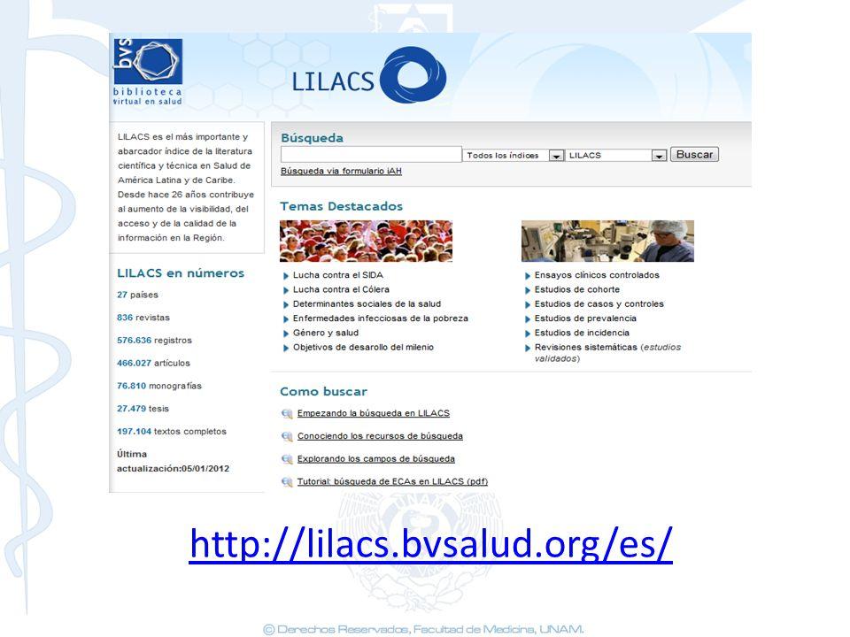 http://lilacs.bvsalud.org/es/ 27