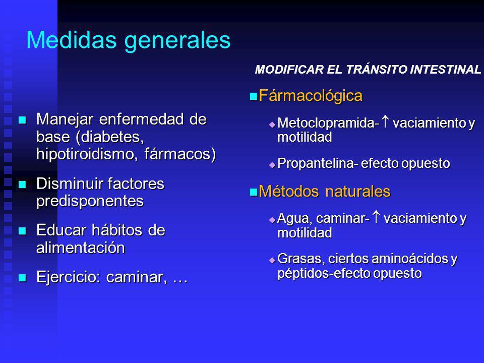 Medidas generales Fármacológica