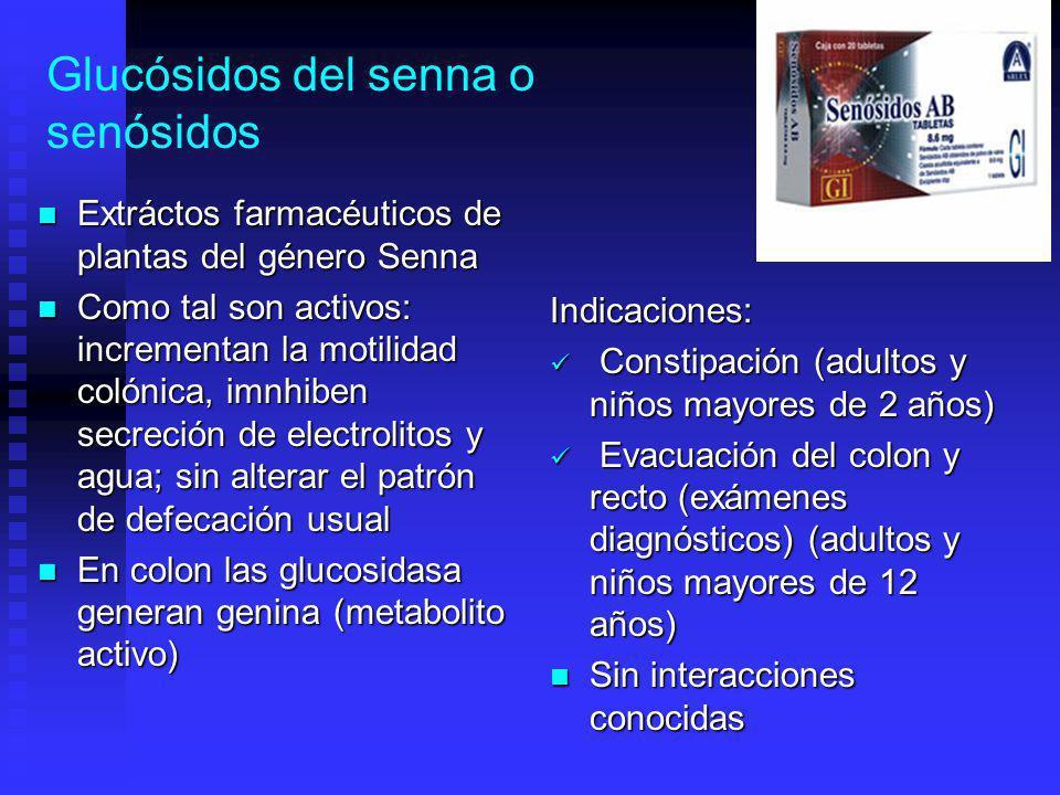 Glucósidos del senna o senósidos