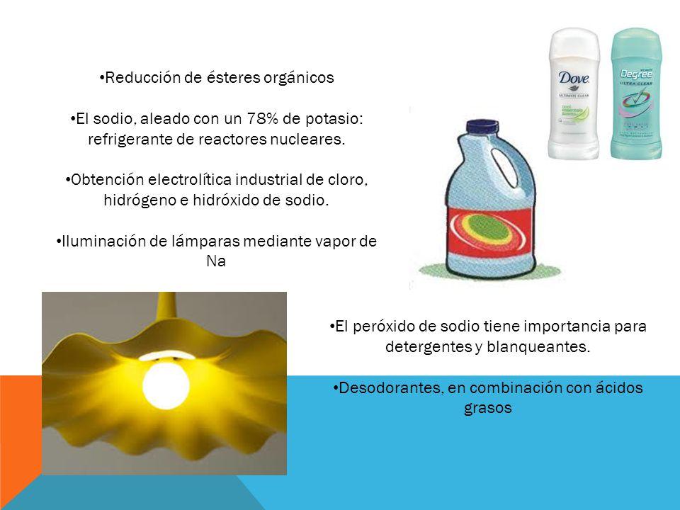 Reducción de ésteres orgánicos