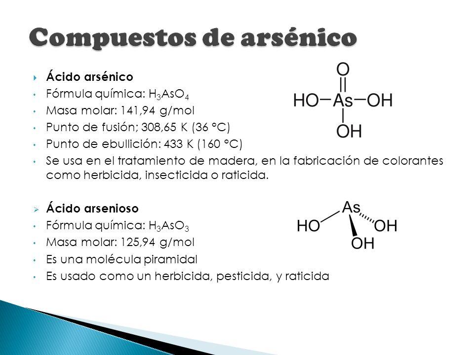 Compuestos de arsénico