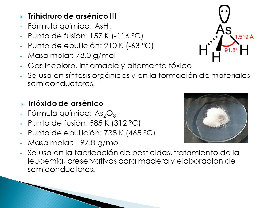 Trihidruro de arsénico III
