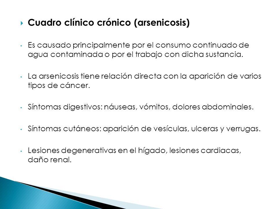 Cuadro clínico crónico (arsenicosis)