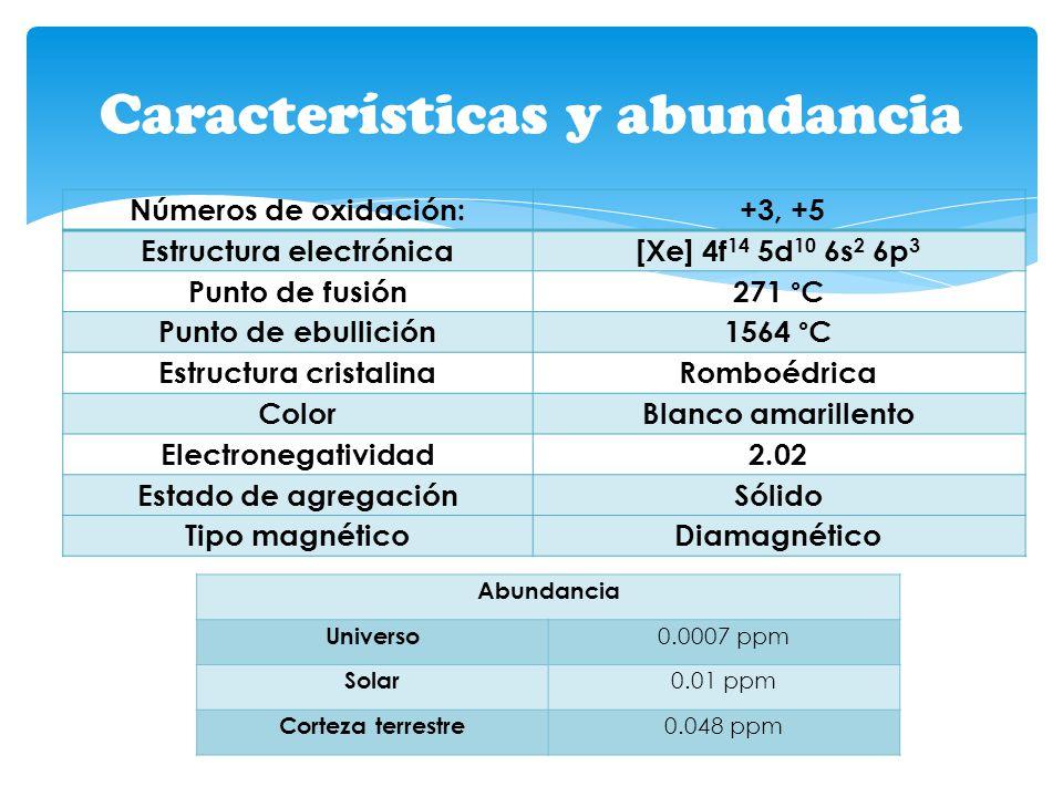 Características y abundancia