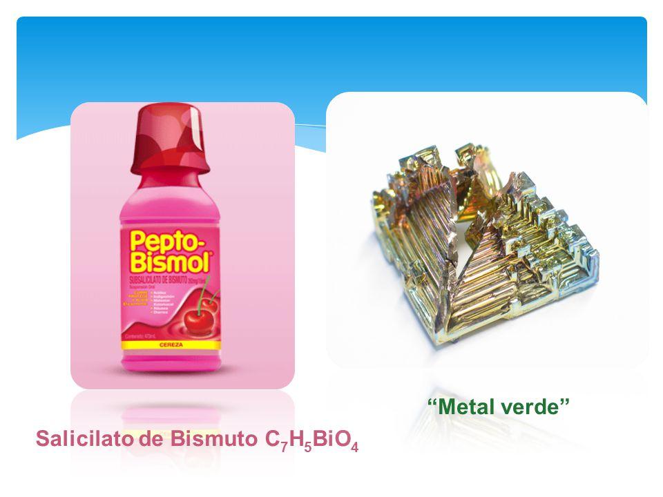 Metal verde Salicilato de Bismuto C7H5BiO4