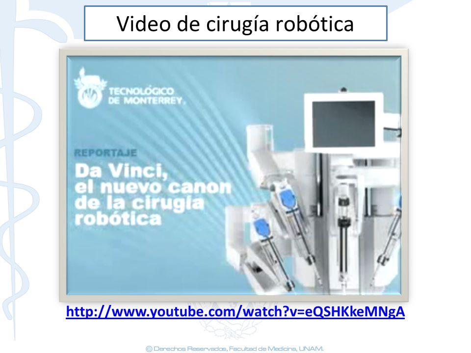 Video de cirugía robótica