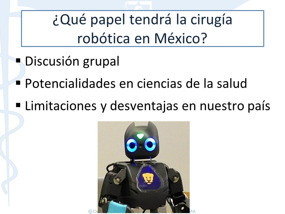 ¿Qué papel tendrá la cirugía robótica en México