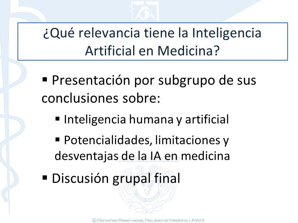 ¿Qué relevancia tiene la Inteligencia Artificial en Medicina