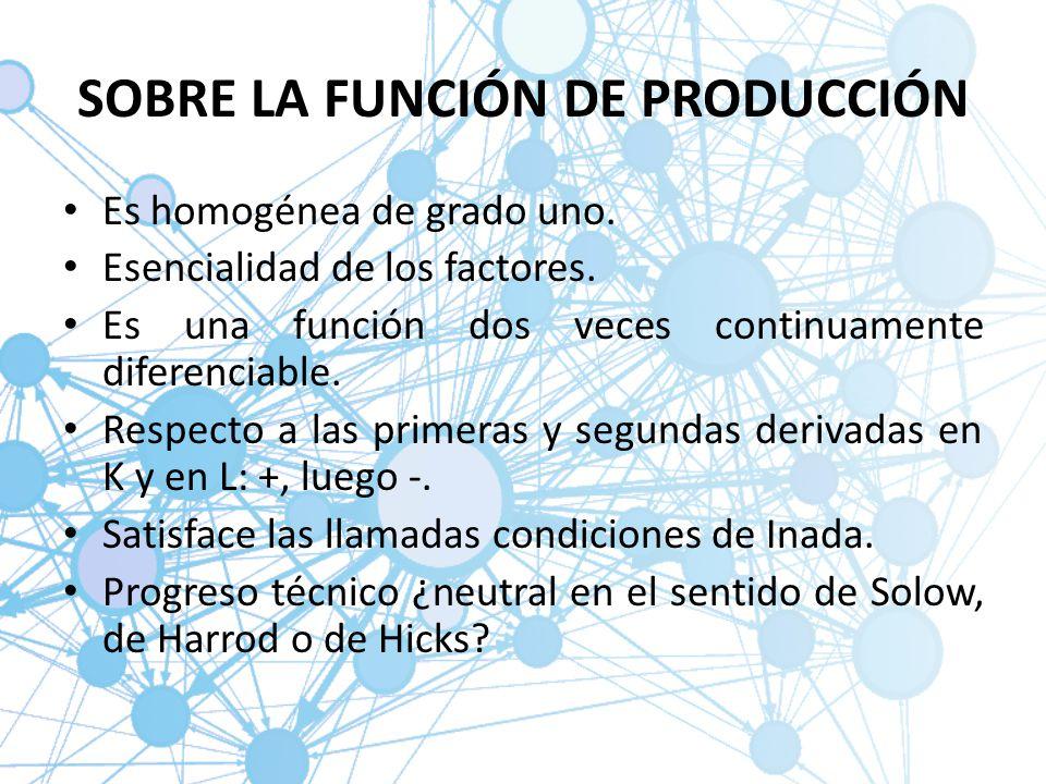 SOBRE LA FUNCIÓN DE PRODUCCIÓN