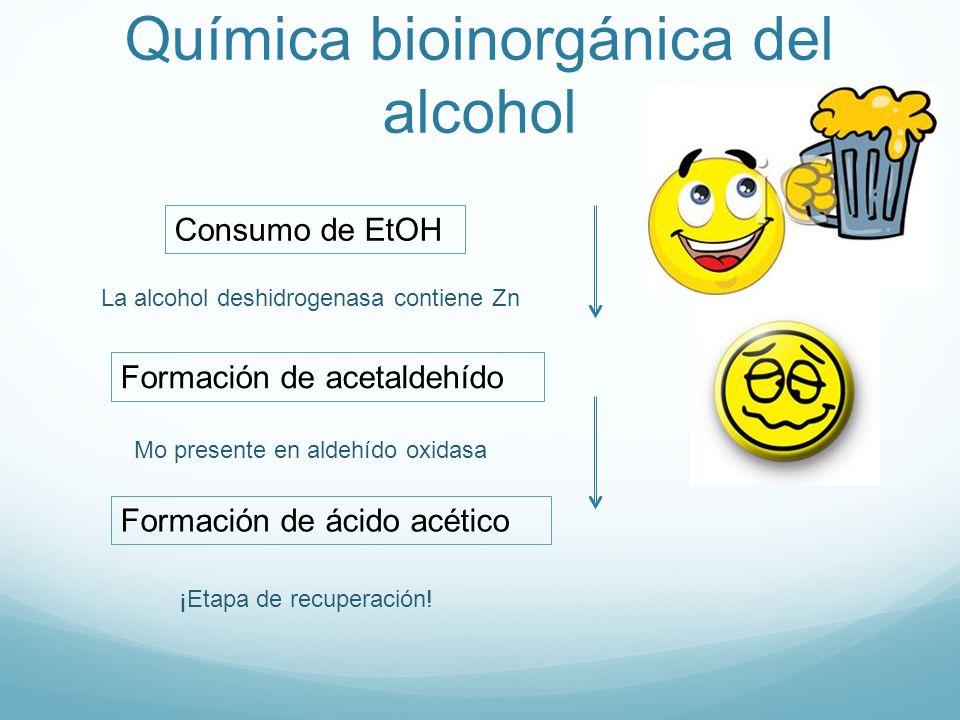 Química bioinorgánica del alcohol
