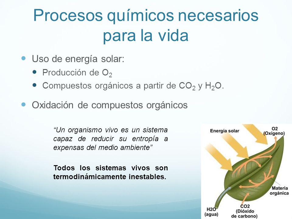 Procesos químicos necesarios para la vida
