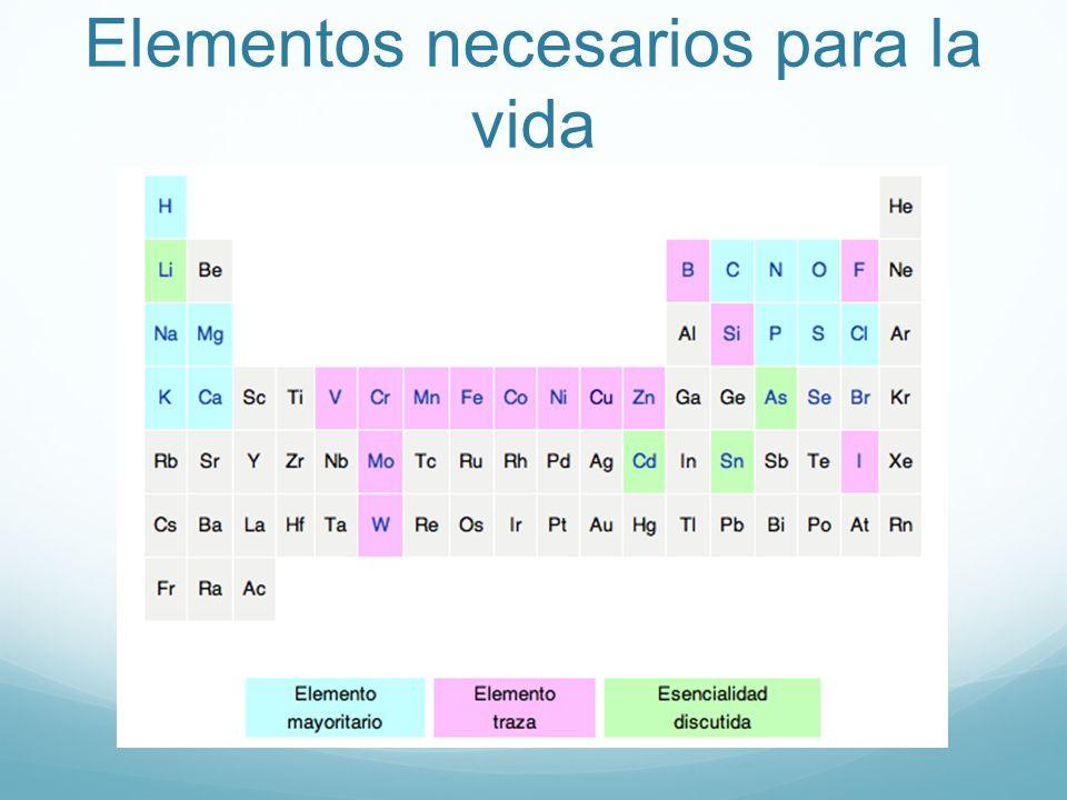 Elementos necesarios para la vida