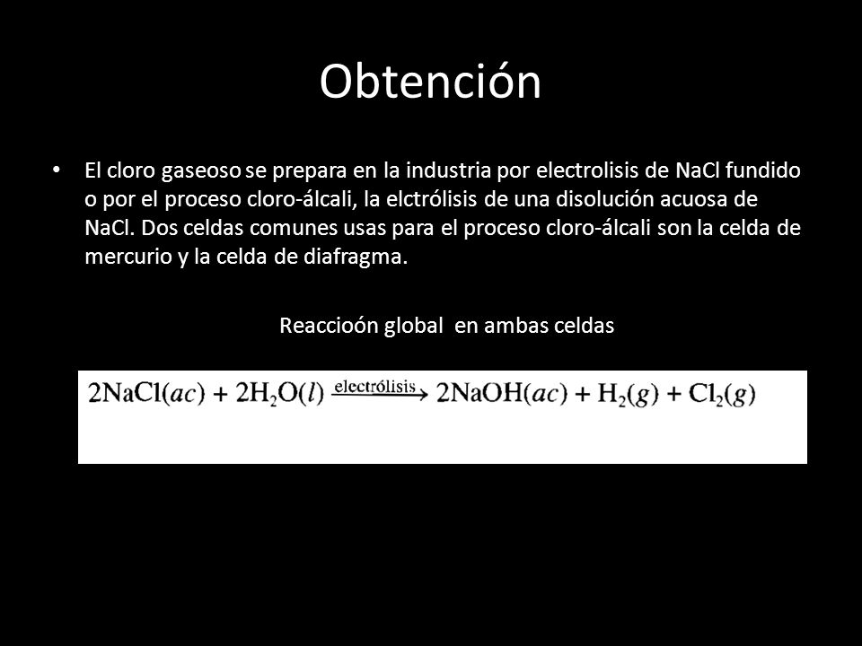 Reaccioón global en ambas celdas