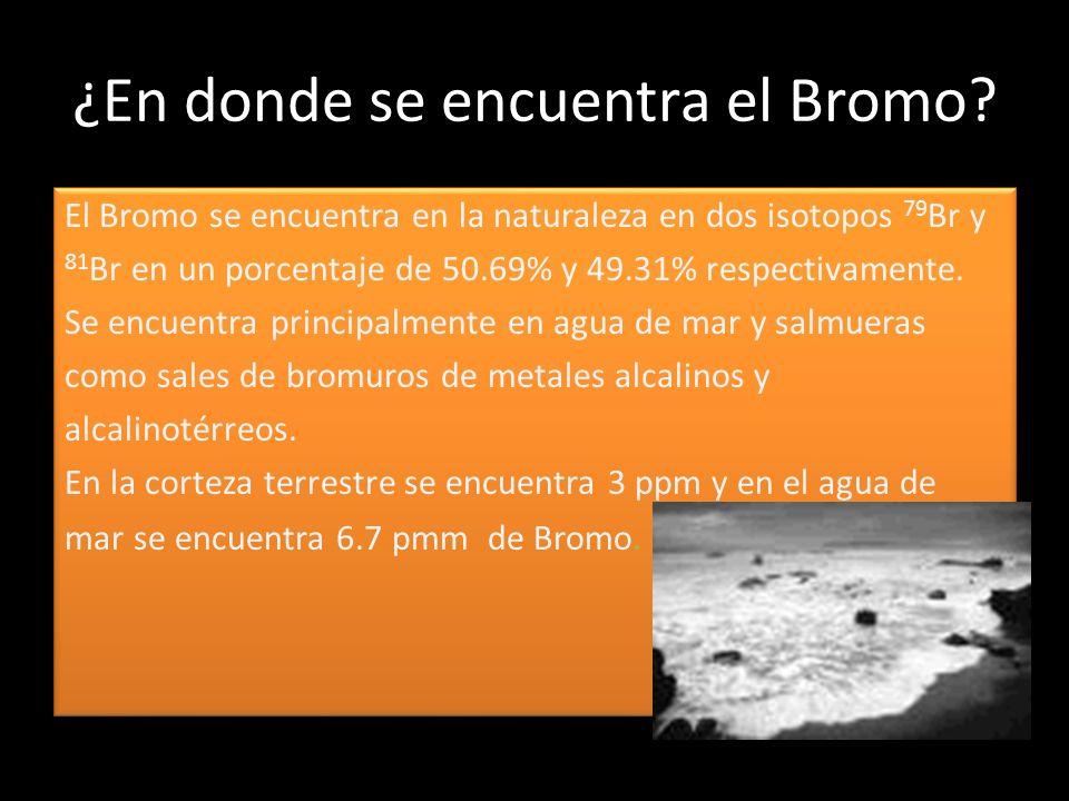 ¿En donde se encuentra el Bromo