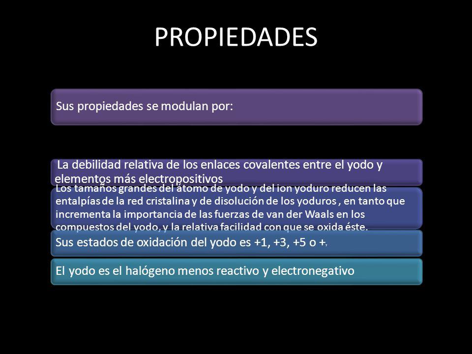 PROPIEDADES Sus propiedades se modulan por: