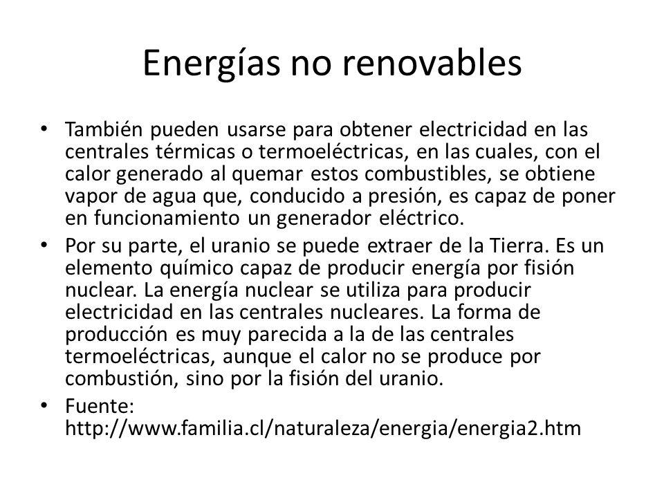 Energías no renovables
