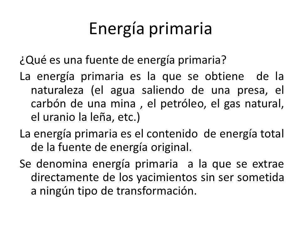 Energía primaria