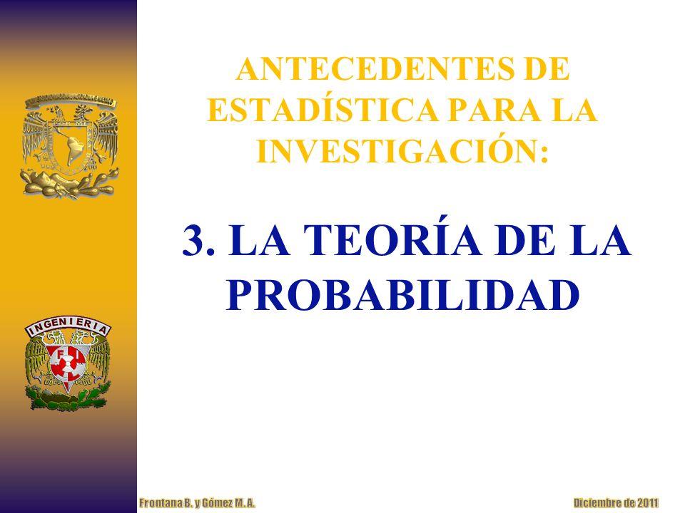 ANTECEDENTES DE ESTADÍSTICA PARA LA INVESTIGACIÓN: 3