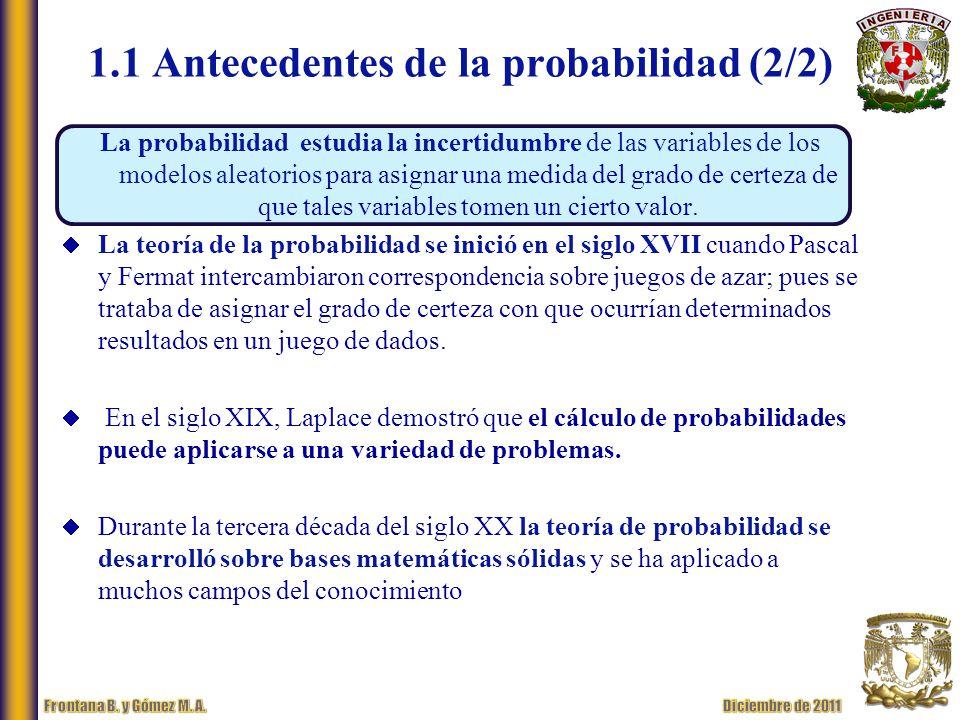 1.1 Antecedentes de la probabilidad (2/2)